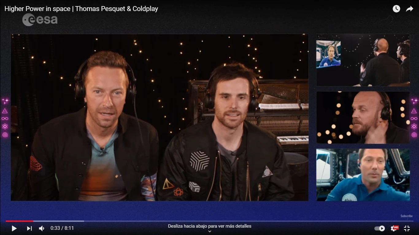 Coldplay lanza su tema 'Higher Power', y lo hace desde el espacio exterior