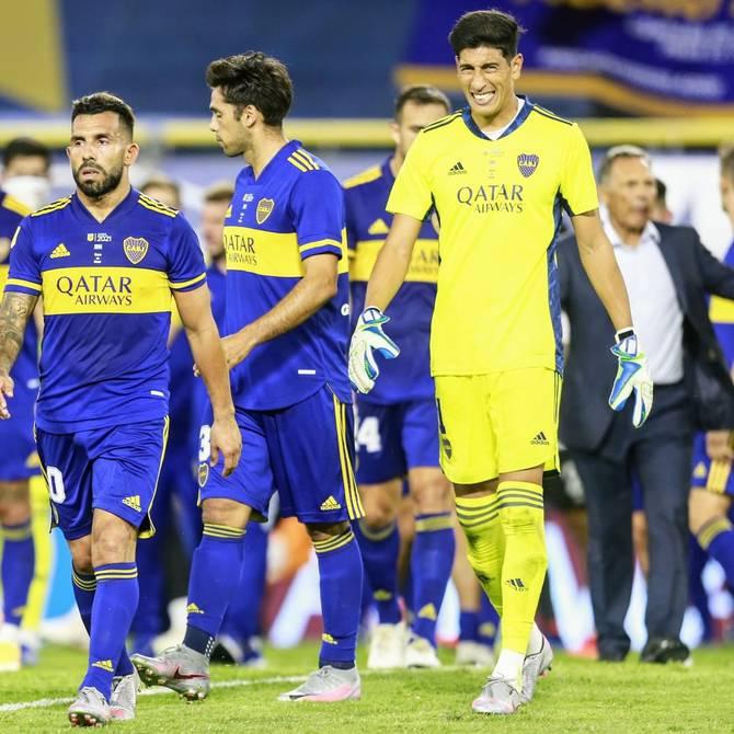 Esteban Andrada, portero titular de Boca, dio positivo por COVID-19 y será baja para enfrentar a Barcelona SC