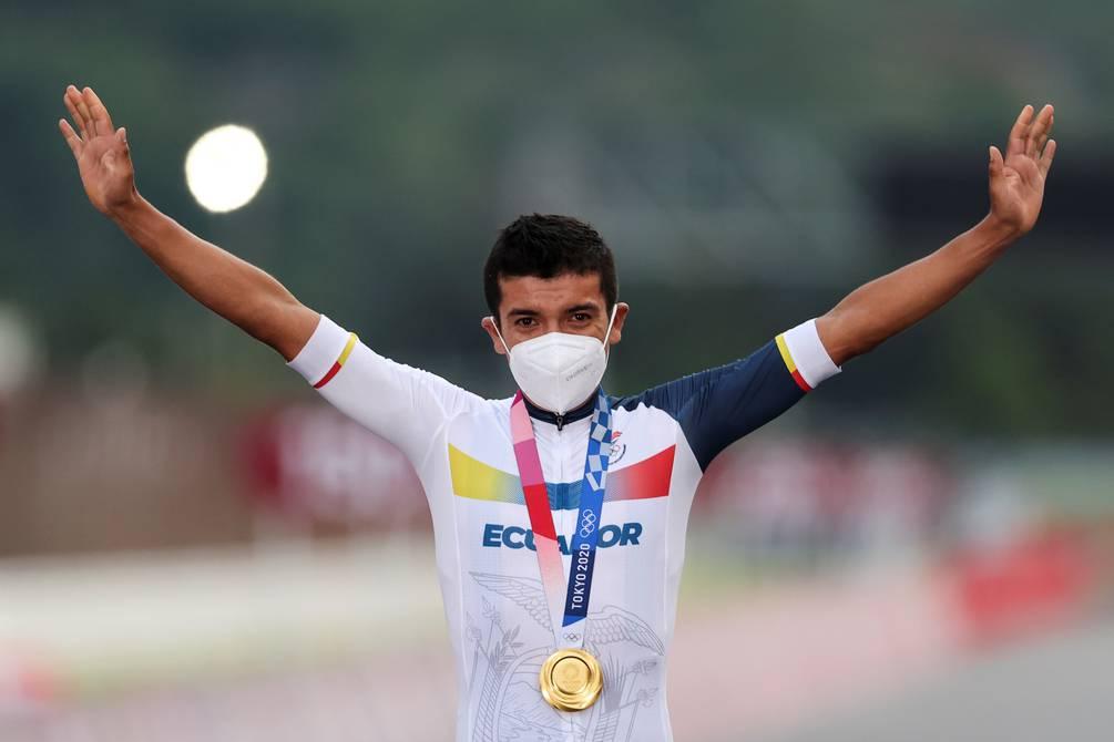Richard Carapaz recibirá $ 100.000 como premio por la medalla de oro en Tokio 2020