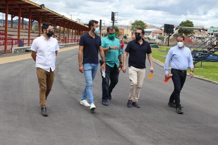 El material sintético para la pista Jefferson Pérez está próximo a llegar a Ecuador
